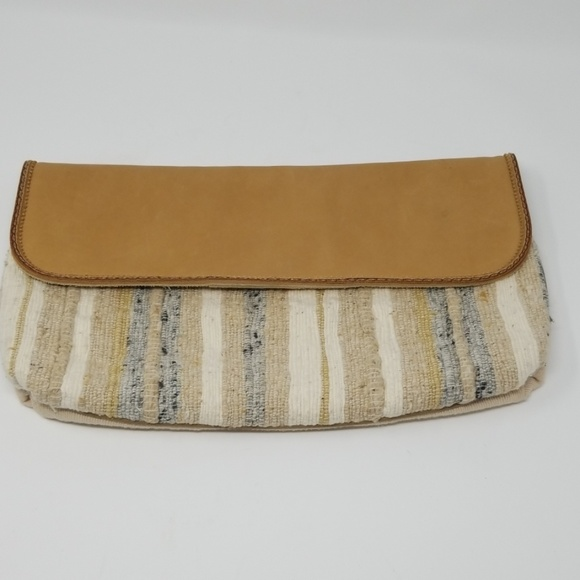 Picard Handbags - Picard Leather & Fabric Clutch
